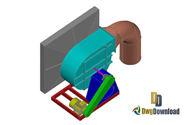 3D Turbine Dwg Download
