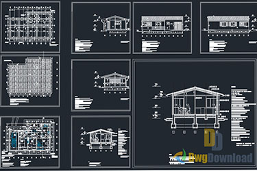 Bungalow House Detailed Drawing Dwg Download