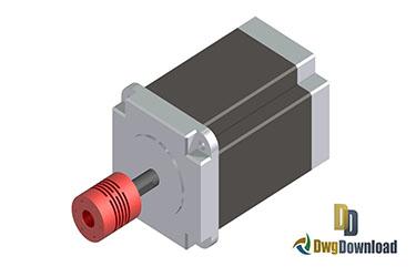 Stepper Motor Dwg 3D Drawing