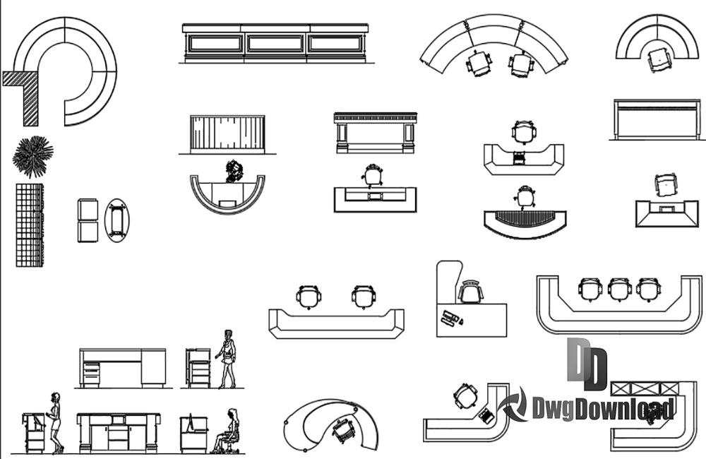Phenomenal Reception Furnitures Dwg Download Dwgdownload Com Download Free Architecture Designs Intelgarnamadebymaigaardcom
