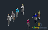 3D Person Cad Blocks Dwg Download