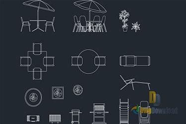 Outdoor Furniture Cads Blocks Dwg Download