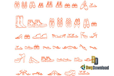 Shoes Cads Blocks Dwg Download