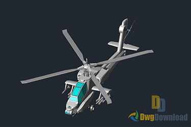 3D Helicopter Drawing Dwg Download