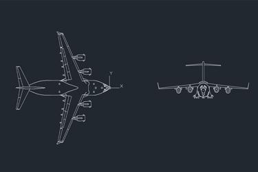 Boeing C17 Cargo Airplane Dwg