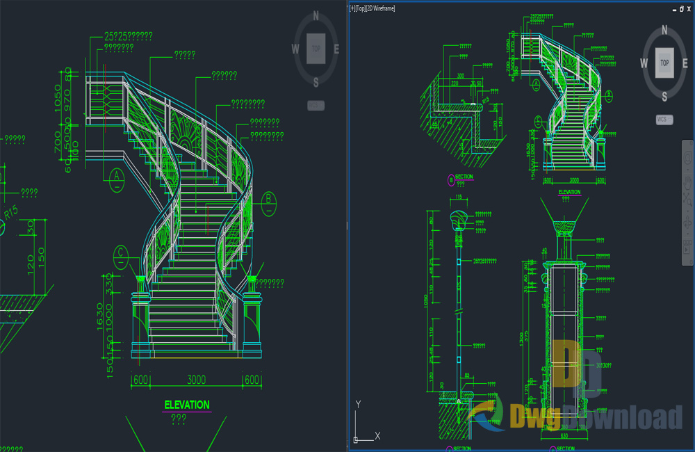 Marvelous Stairs Detail Drawing Dwg Download