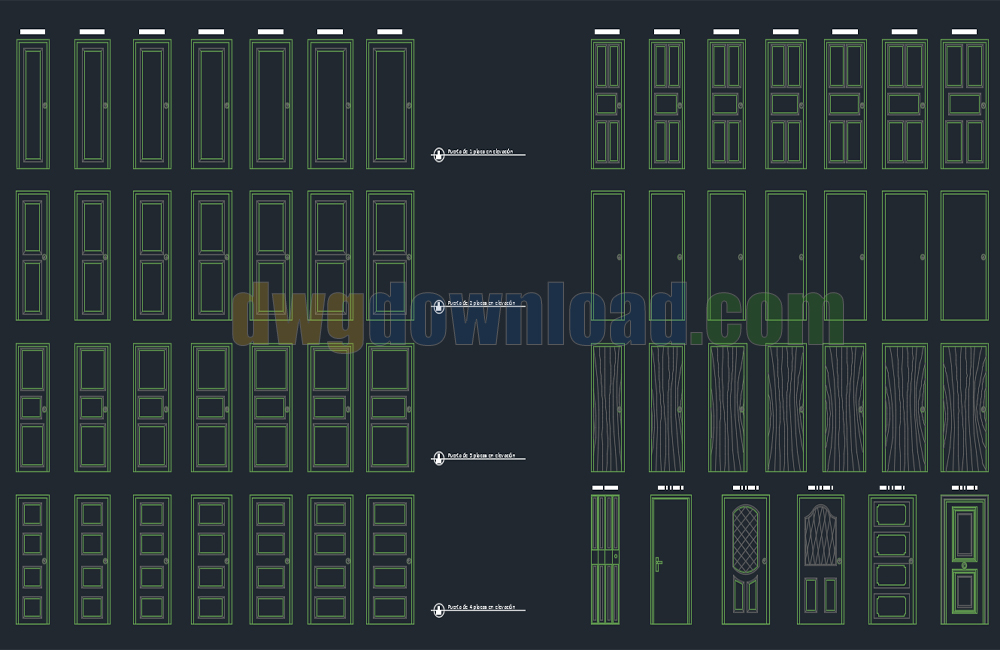 Doors Cad Blocks Dwg Download & Doors Cad Blocks Dwg Download » DwgDownload.Com pezcame.com