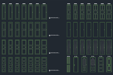Doors Cad Blocks Dwg Download