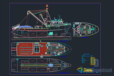 Fishing Ship Detail Dwg Download