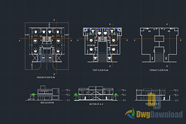 Mumbai Bungalow Drawing Dwg Download