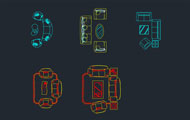 Various Sofas Cad Blocks Dwg Download
