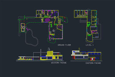Villa Project With Pool Dwg Download