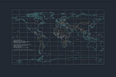 Worldmap 2D Map Dwg Download