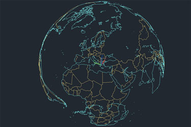 Worldmap 3D Map Dwg Download