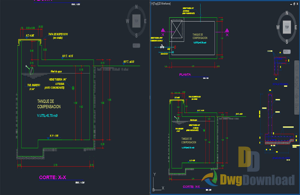 Semi olympic pool drawing dwg download dwgdownload com for Pool design software free download