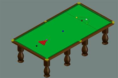 3D Billiards Table Dwg Download