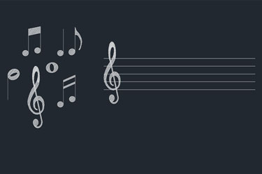 Music Notes Cad Blocks Dwg Download