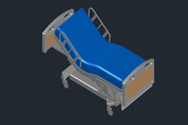 Hospital Bed 3D Dwg Download