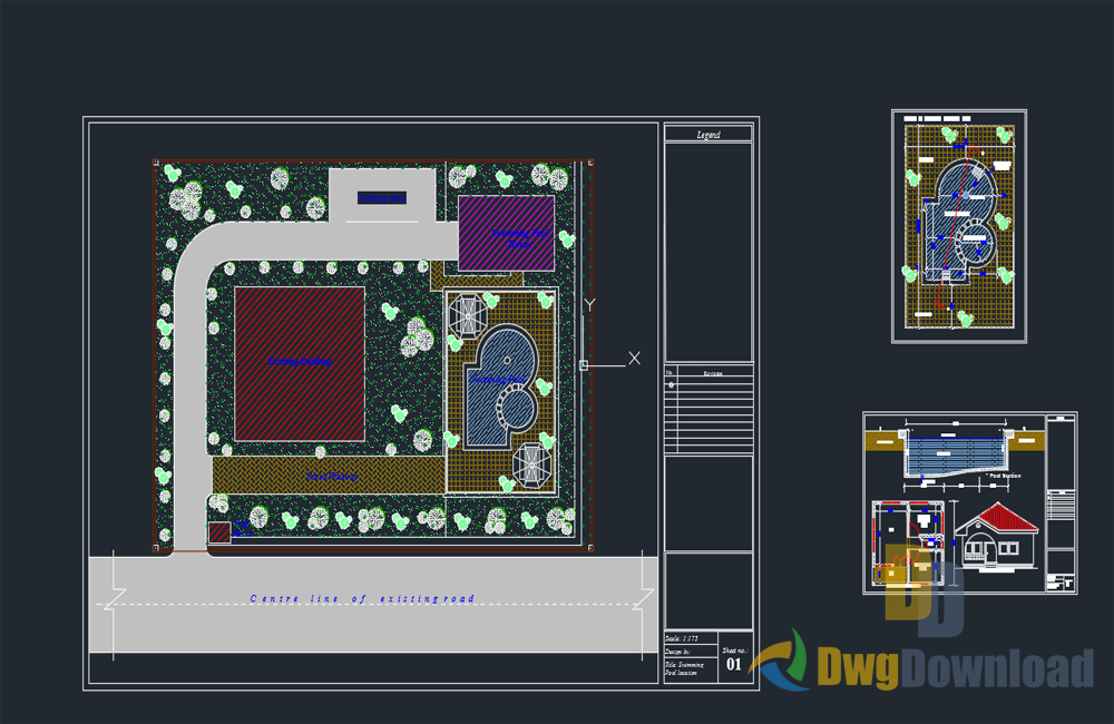 swimming pool dwg drawing, swimming pool dwg, swimming pool about  categories of architecture,pool