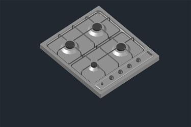 Gas Cooktop 3D Dwg Download