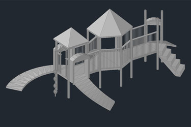 Children 3D Big Park Dwg Download