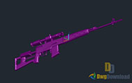 3D Sniper Dwg Download