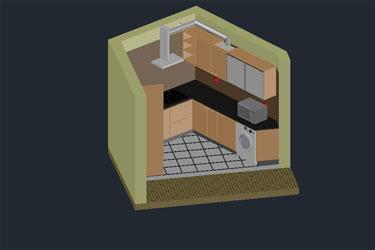 Kitchen 3D Dwg Download