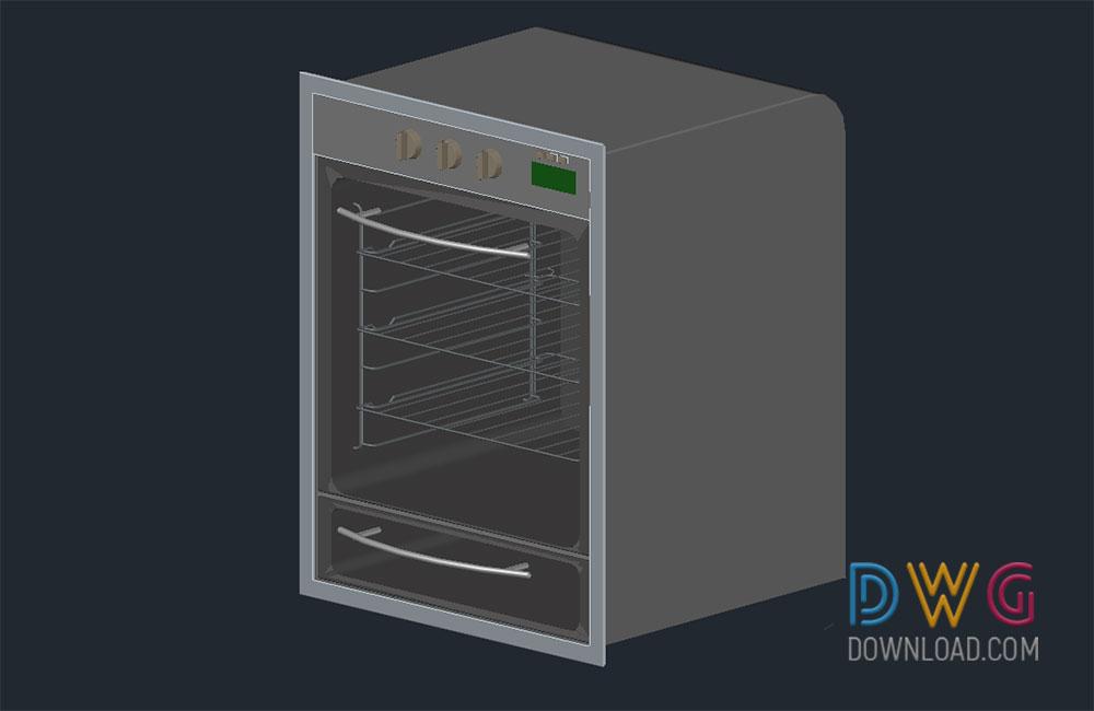 Oven 3d Autocad Drawings Dwgdownload Com