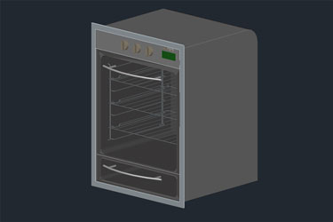 Oven 3D Autocad Drawings