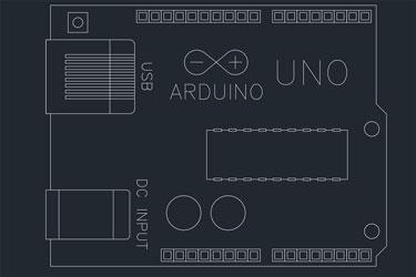 Arduino Uno Dwg Drawing