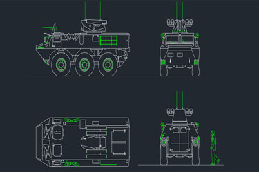 Armored Personnel Carrier Dwg Drawings