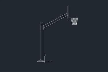 Basketball Hoop Pole Cad Drawings