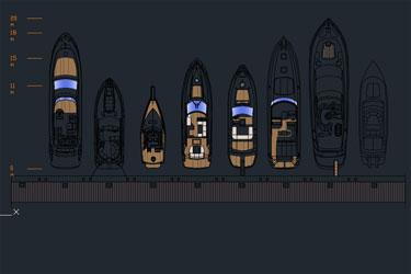 Super Yachts Cad Blocks Drawings