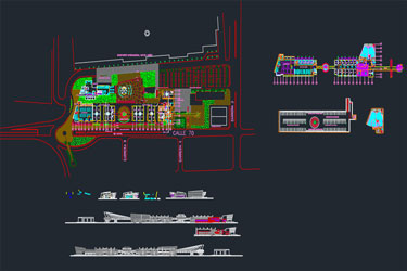 International Airport Details Dwg