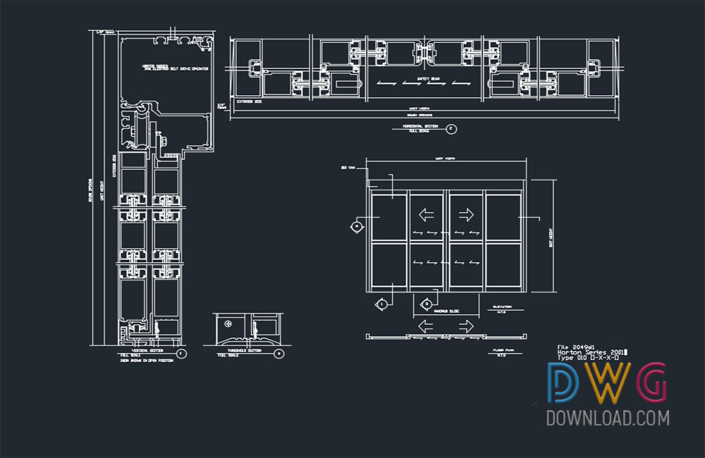 Automatic Sliding Door Dwg Drawings 187 Dwgdownload Com