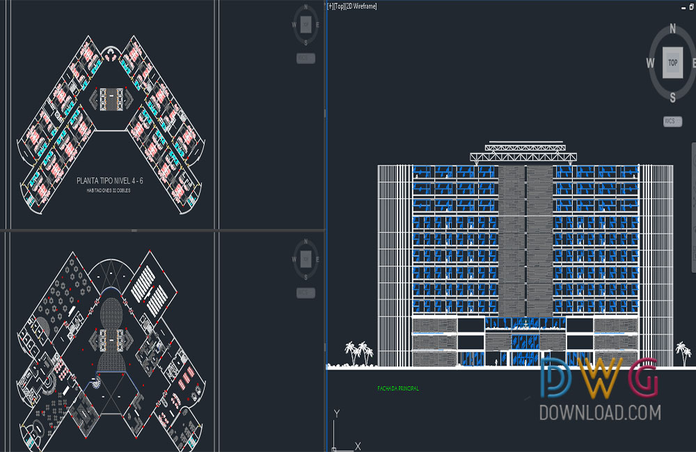 architectural detail dwg, hotel plan dwg, hotel dwg about  categories of architecture,hotels