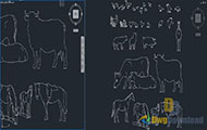 Animals Cads Blocks Set Dwg Download
