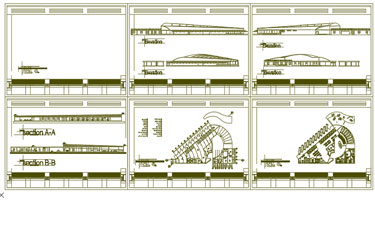 Bus Terminal Dwg Drawing