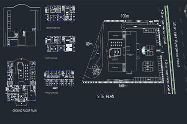 5 Star Hotel Cad Project