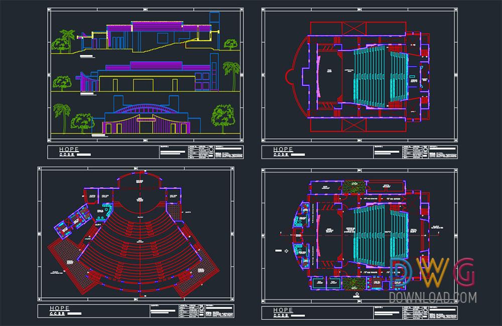 Auditorium Dwg Project Dwgdownload Com