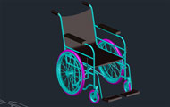 Wheelchair 3D Dwg Drawing