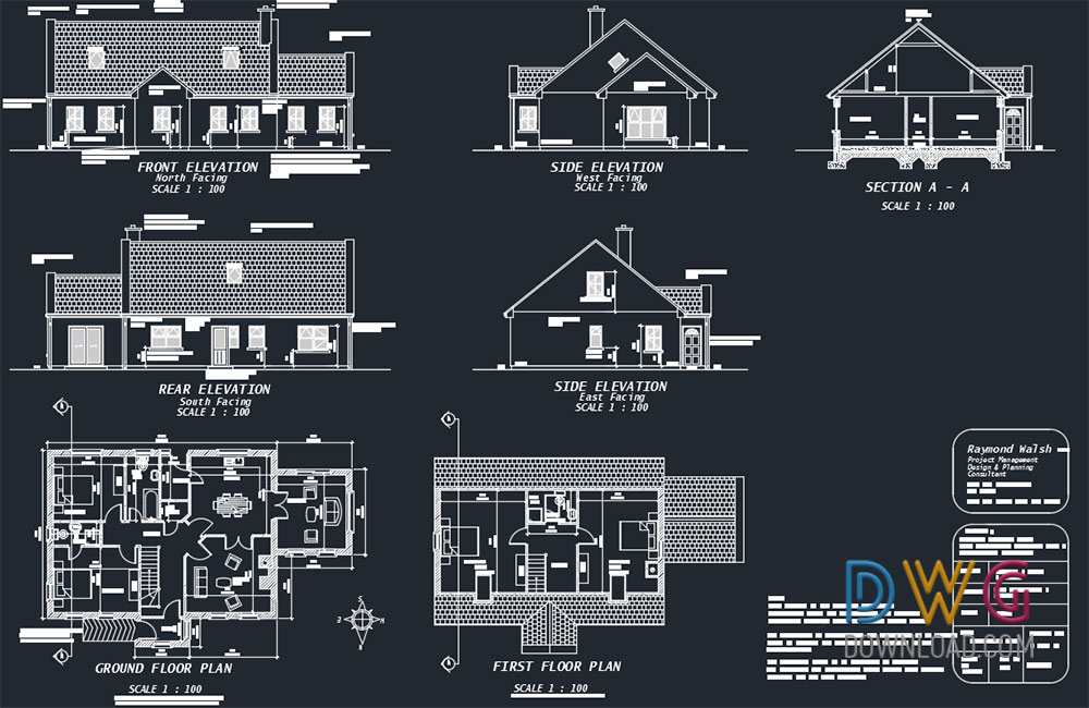 315 B Indian Small House Cad Dwg Drawings - Download Small House Design Software Free Download  Pics