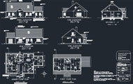 Indian Small House Cad Dwg Drawings