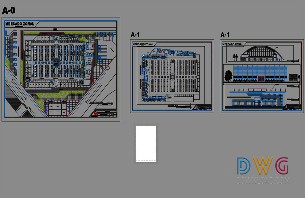 architectural detail dwg, shopping center dwg, food market dwg, mall dwg about  categories of architecture,shopping-centers