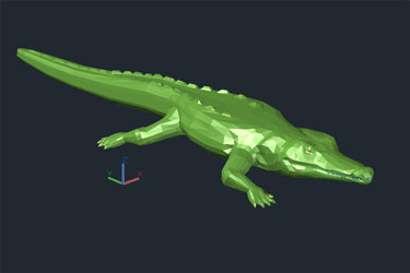 Crocodile 3D Dwg Drawing