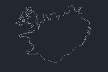 Autocad archives of geography maps dwg dwgdownload iceland map dwg download gumiabroncs Gallery