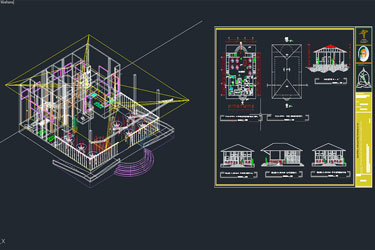 Restaurant 3D And 2D Dwg Project