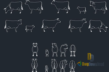 Cows Cads Blocks Set Dwg Download