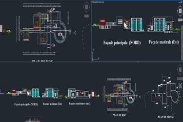 Villa Plan Dwg Project