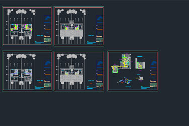 Twin Houses Dwg